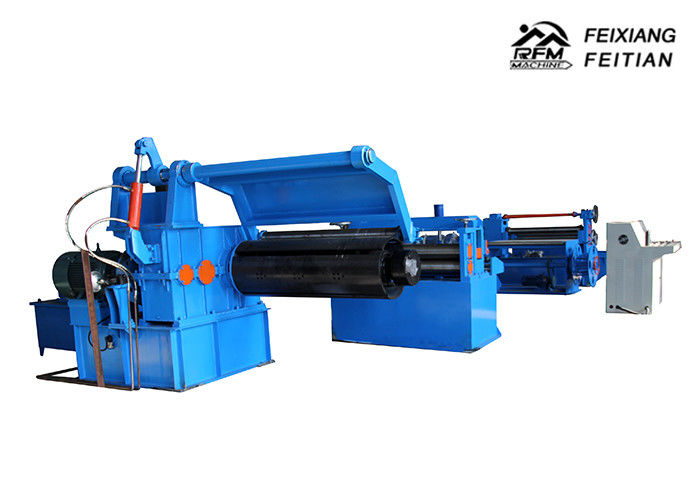 FX3-1250mm Metal Steel Coil Slitting Line , Sheet Metal Shearing Machine For Uncoiling