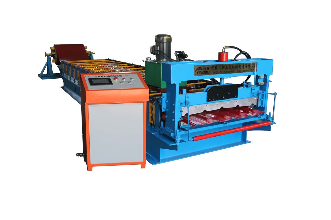 High Frequency IBR Sheet Roll Forming Machine , Steel Metal Roof Tile Making Machine