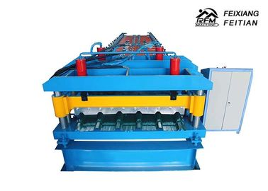 Cina Hidrolik Logam Glazed Tile Roll Forming Machine Dengan 2 - 5m / Min Speed pabrik