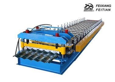 Cina Roofing Corrugated Sheet Roll Forming Machine, Mesin Roll Forming Panel Dinding FX1004 pabrik