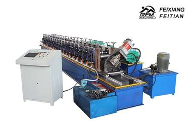 Cina Column Style Cable Tray Manufacturing Machine / Bracket Frame Roll Forming Machine pabrik